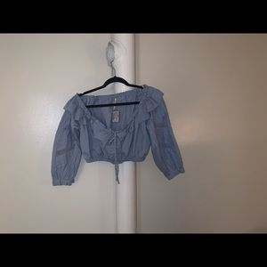 Free people cropped peasant blouses